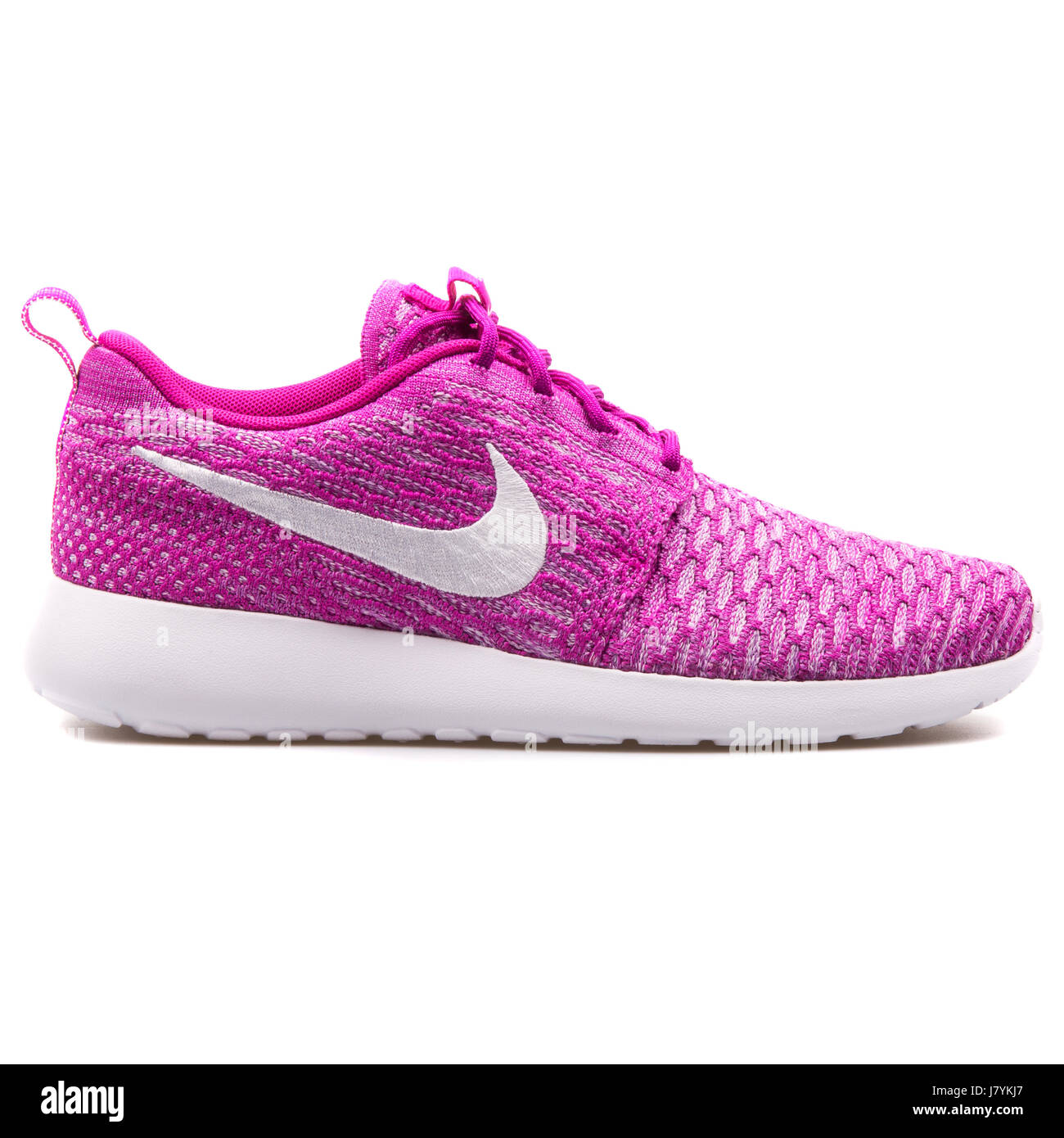 huge discount bc1ad b1eff Nike WMNS Rosherun Flyknit Women s Fuchsia Running Sneakers - 704927-500 -  Stock Image