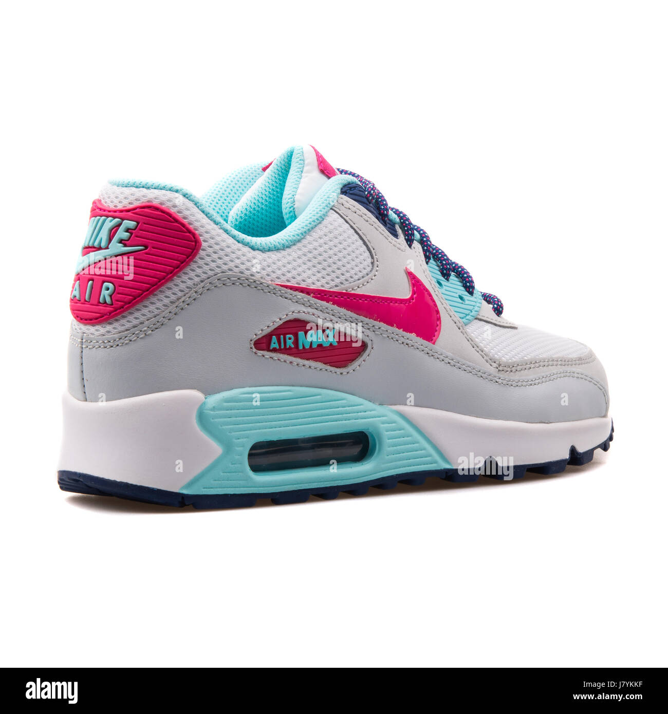 check out fb864 083ef Nike Air Max 90 Mesh (GS) Youth White Vivid Pink Copa Platinum - 724855-102
