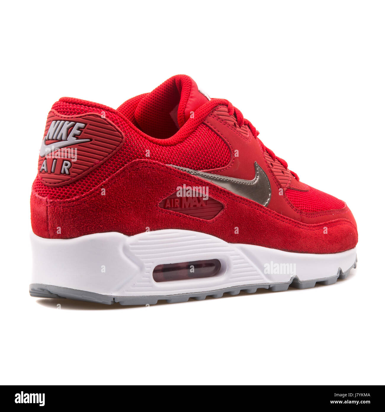 pick up e30e3 1901e Nike Air Max 90 Essential Red Men s Running Sneakers - 537384-602