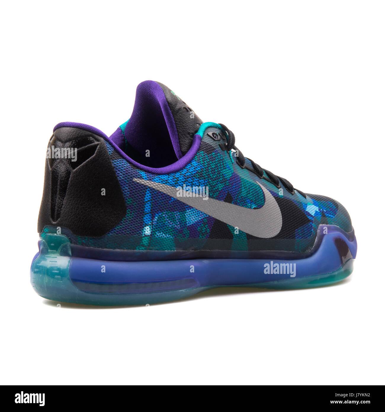 Nike Kobe X Blue Men's Basketball Sneakers - 705317-305 Stock ...