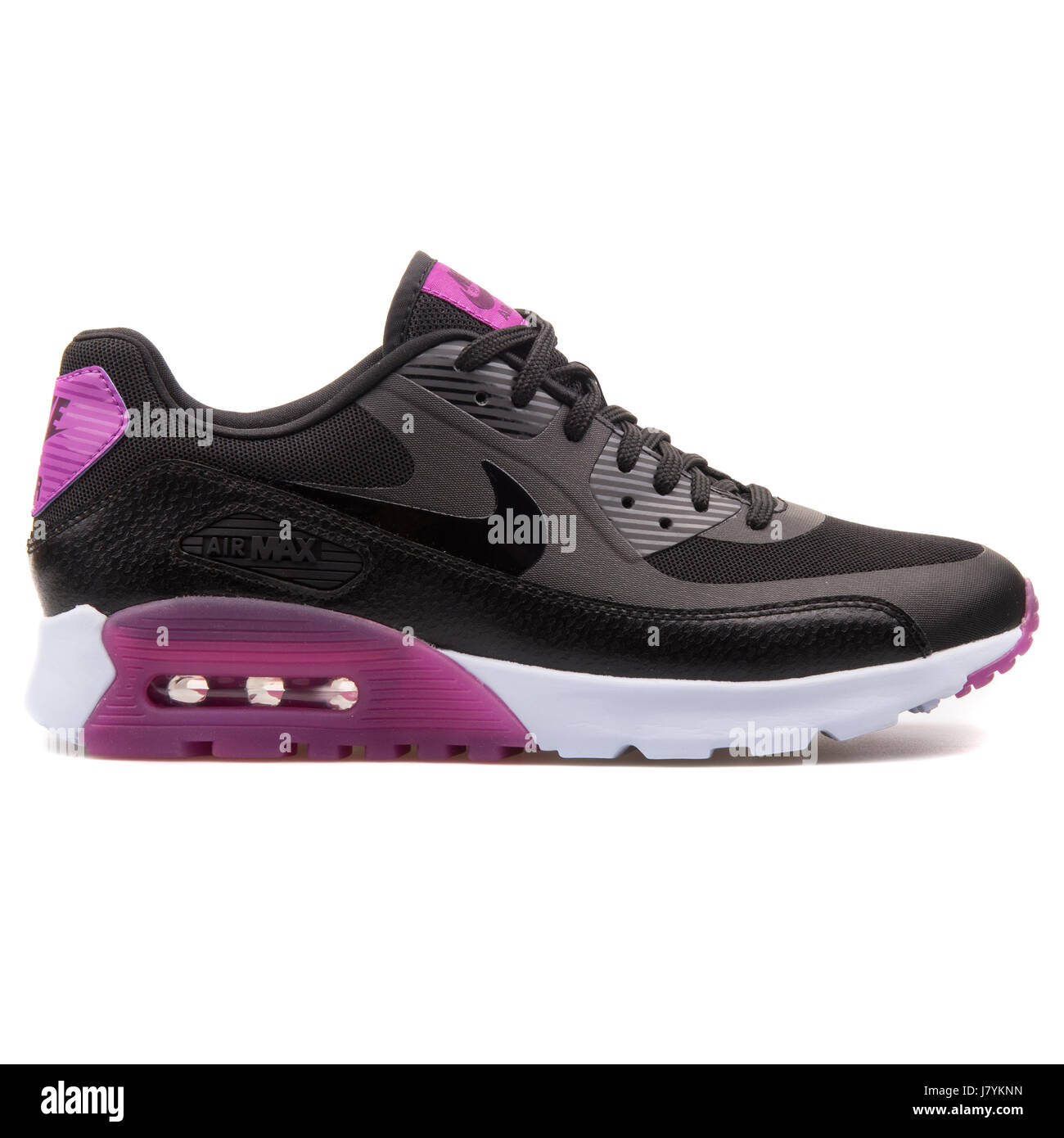 black and purple air max 90