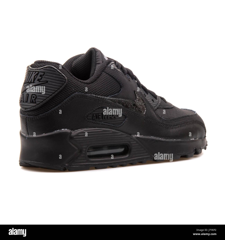 Nike Air Max 90 Mesh (GS) Youth Black Running Sneakers