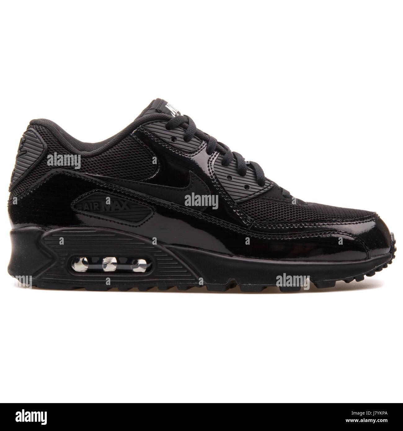 Nike WMNS Air Max 90 Premium Women's Black Glossy Sneakers