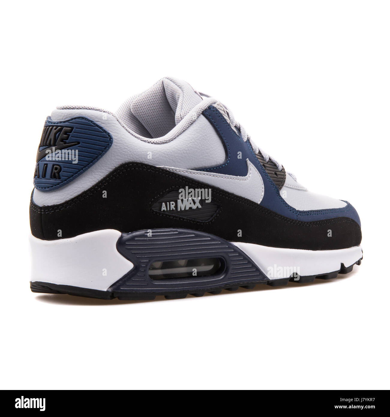 Nike Air Max 90 LTR Grey Navy Blue Men Sports Sneakers