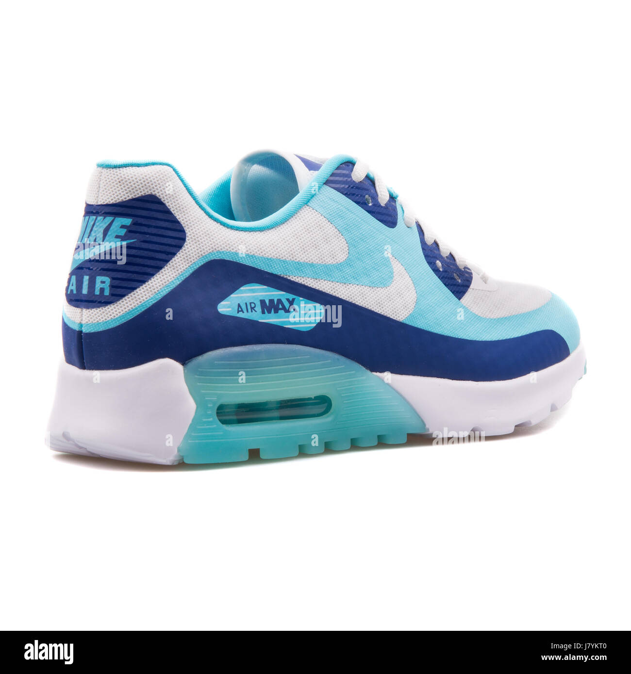 a560ad51 Nike W Air Max 90 Ultra BR Deep Royal Blue, Turquoise and White Women's  Running Sneakers - 725061-400
