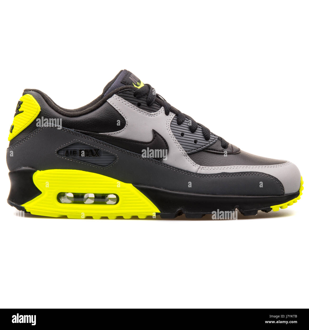 Nike Air Max 90 LTR Black Grey and Yellow Men Sports Sneakers - 652980-007 38d6a33db