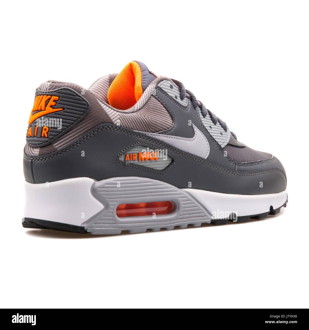 Nike Air Max 90 Print Grey White Orange Men's Running