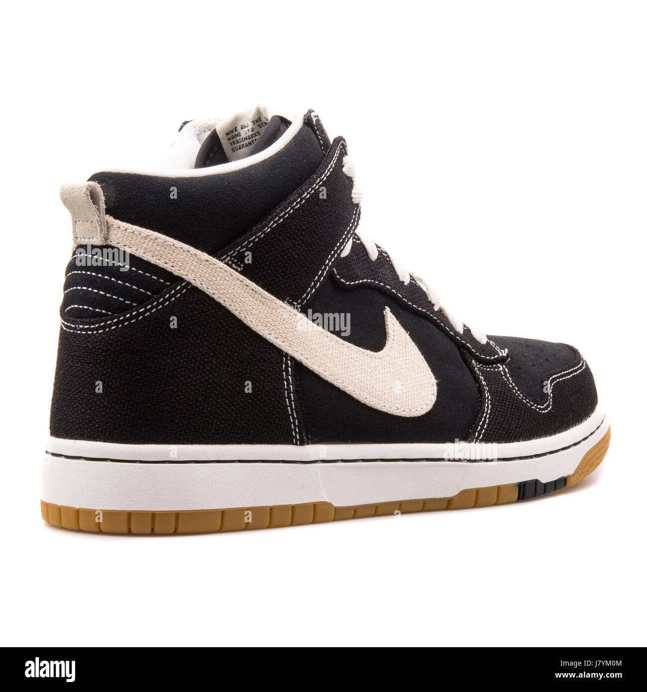 150beed080f Nike Dunk CMFT Black Men s Basketball Sneakers - 705434-002 - Stock Image