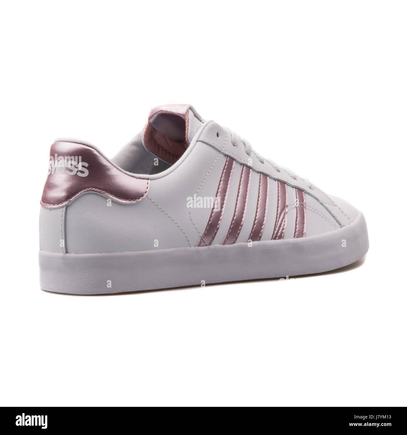 big sale ddfdb 700b5 K-Swiss Belmont SO White Pink Women's Sports Sneakers ...