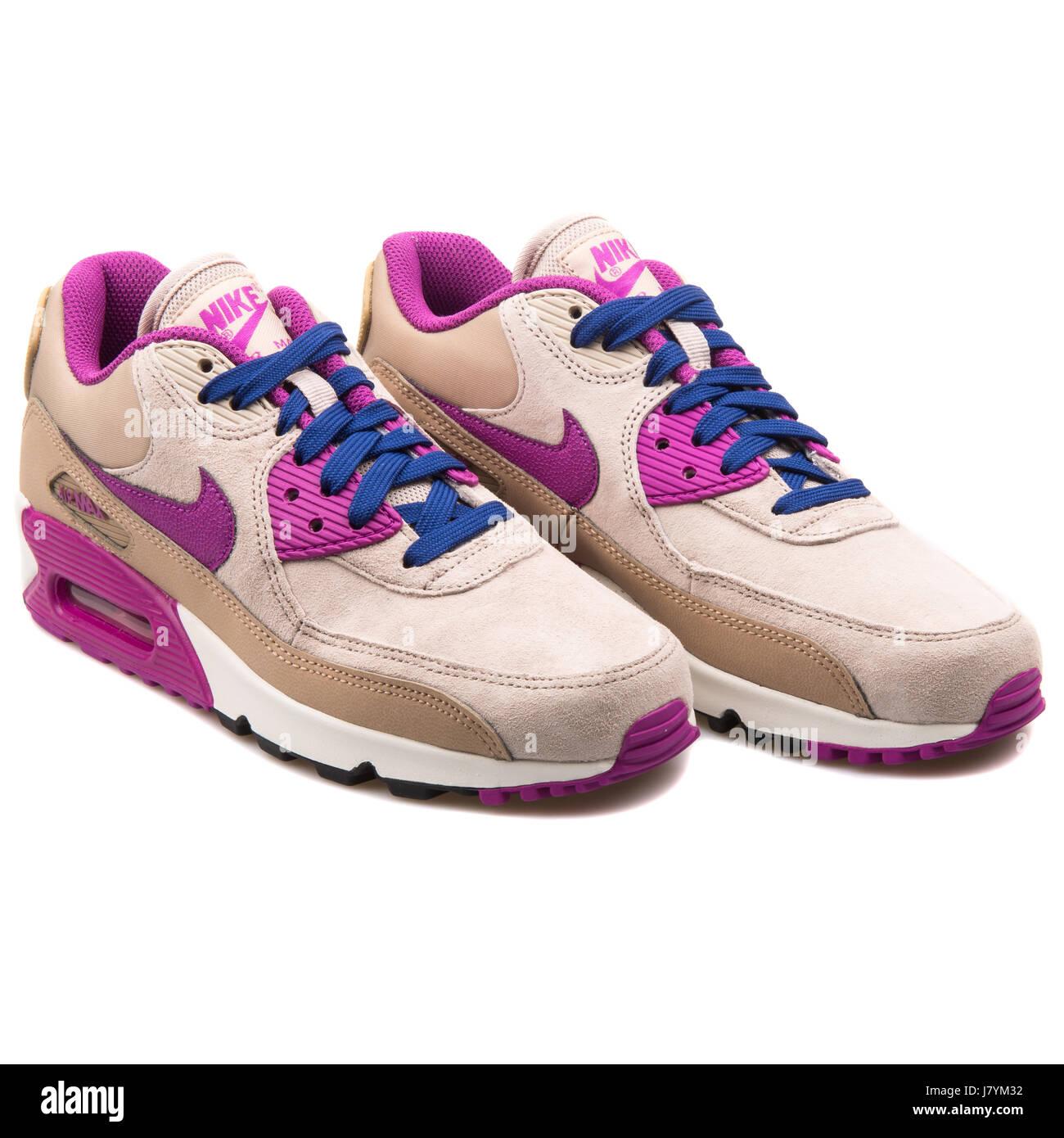 Nike Wmns Corriendo Air Max 90 Lthr Mujer Cuero Corriendo Wmns Desierto  Purple 1668c9