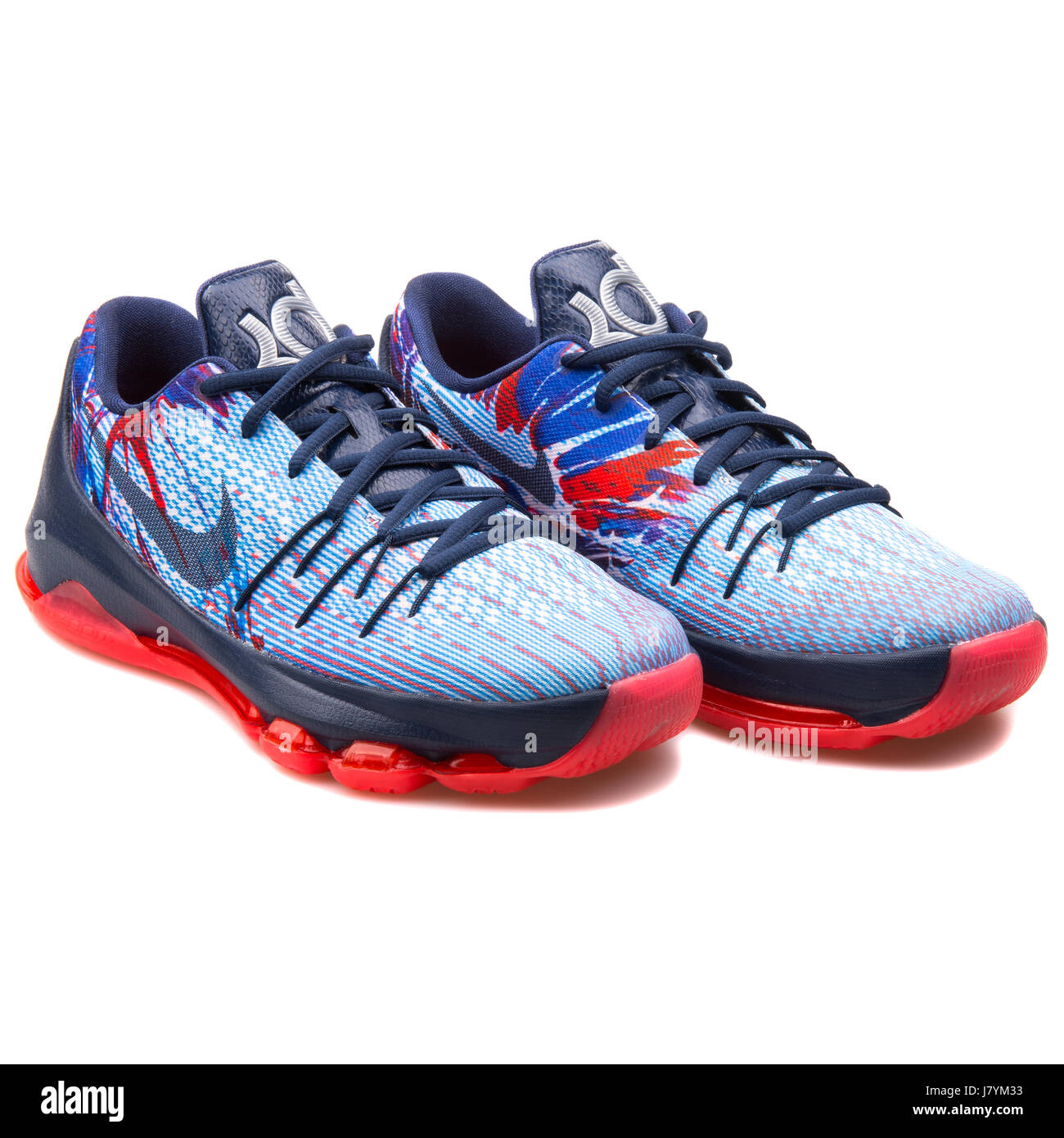 premium selection 1463d 23435 Nike KD 8 (GS) Youth Navy Blue Crimson Basketball Sneakers ...