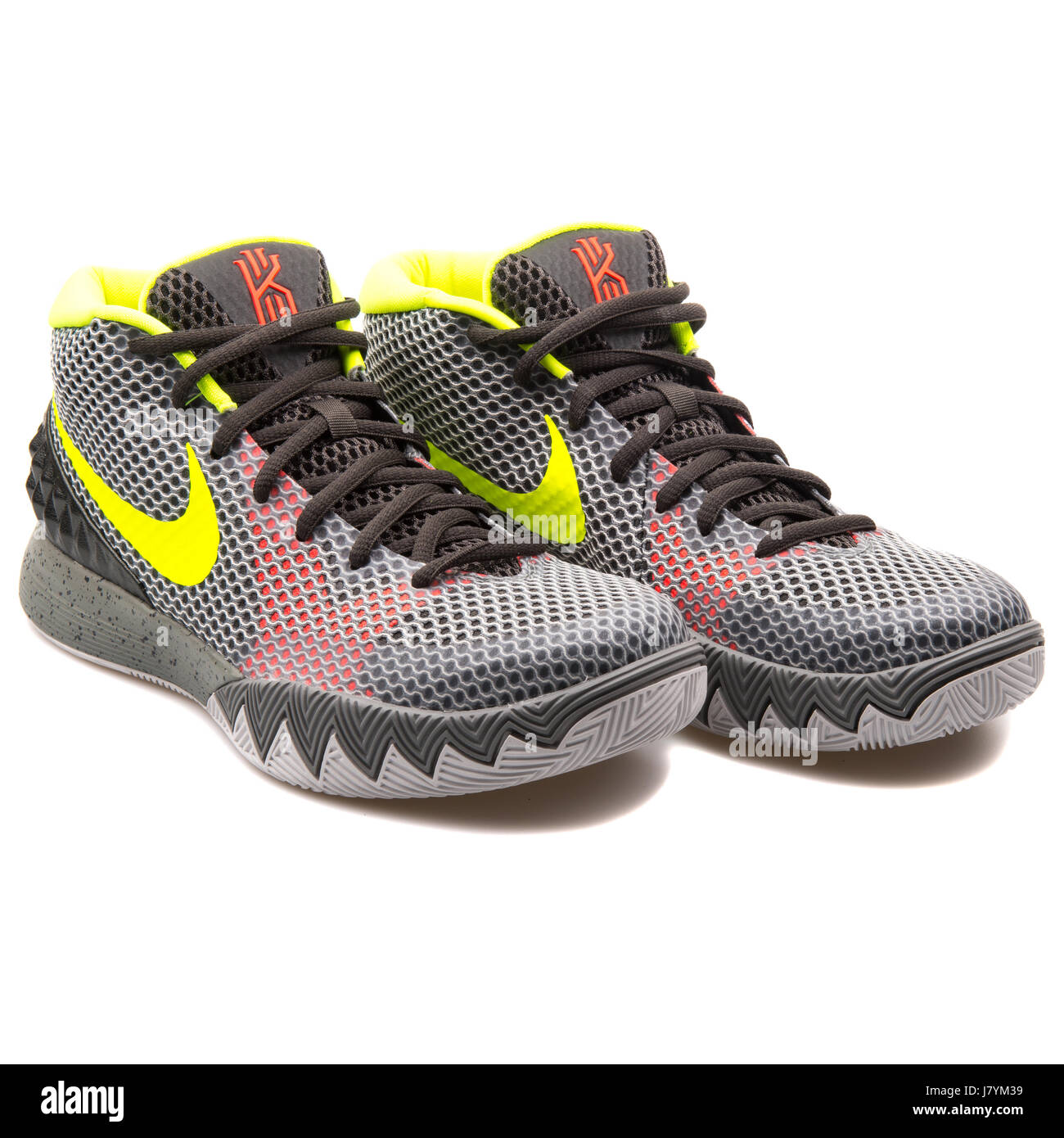 63fb6cde2fd1 Nike Kyrie 1 Men s Grey Basketball Sneakers - 705277-270 Stock Photo ...