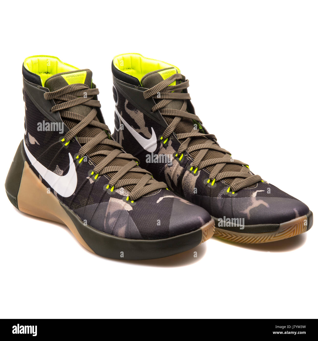 designer fashion 5c060 5702c Nike Hyperdunk 2015 PRM Men Dark Camo Khaki Basketball Sneakers - 749567-313