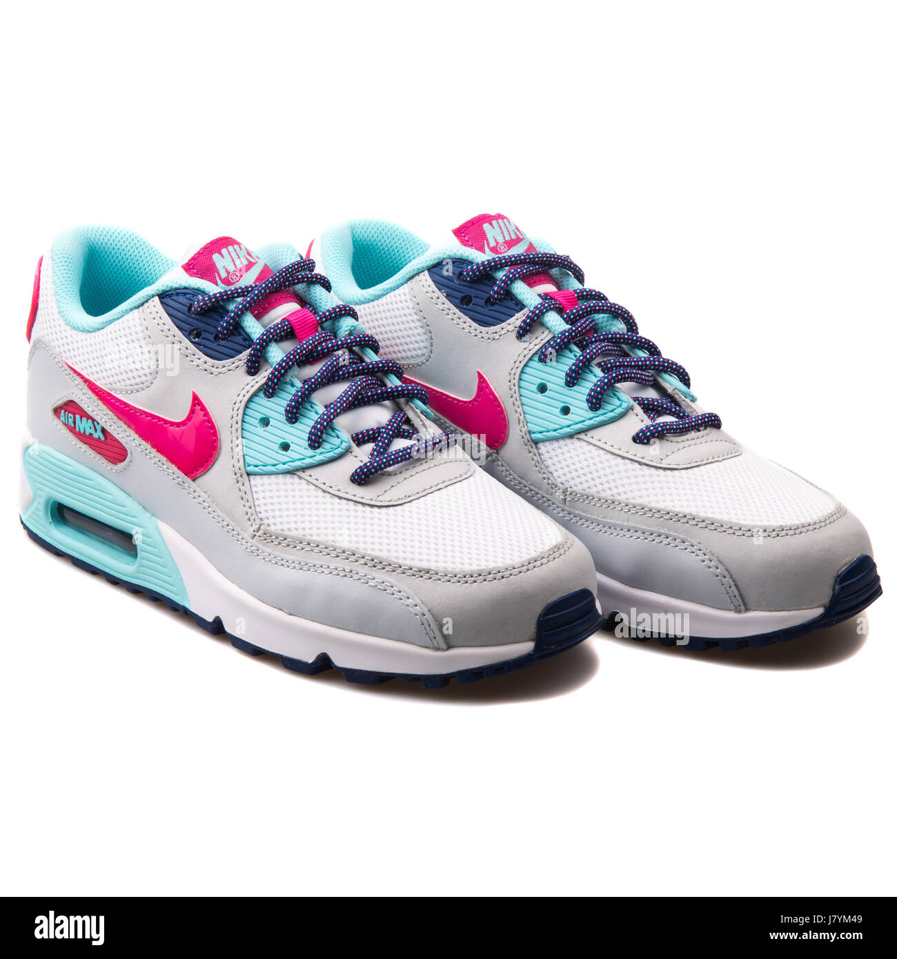 Nike Air Max 90 Mesh (GS) Youth White Vivid Pink Copa