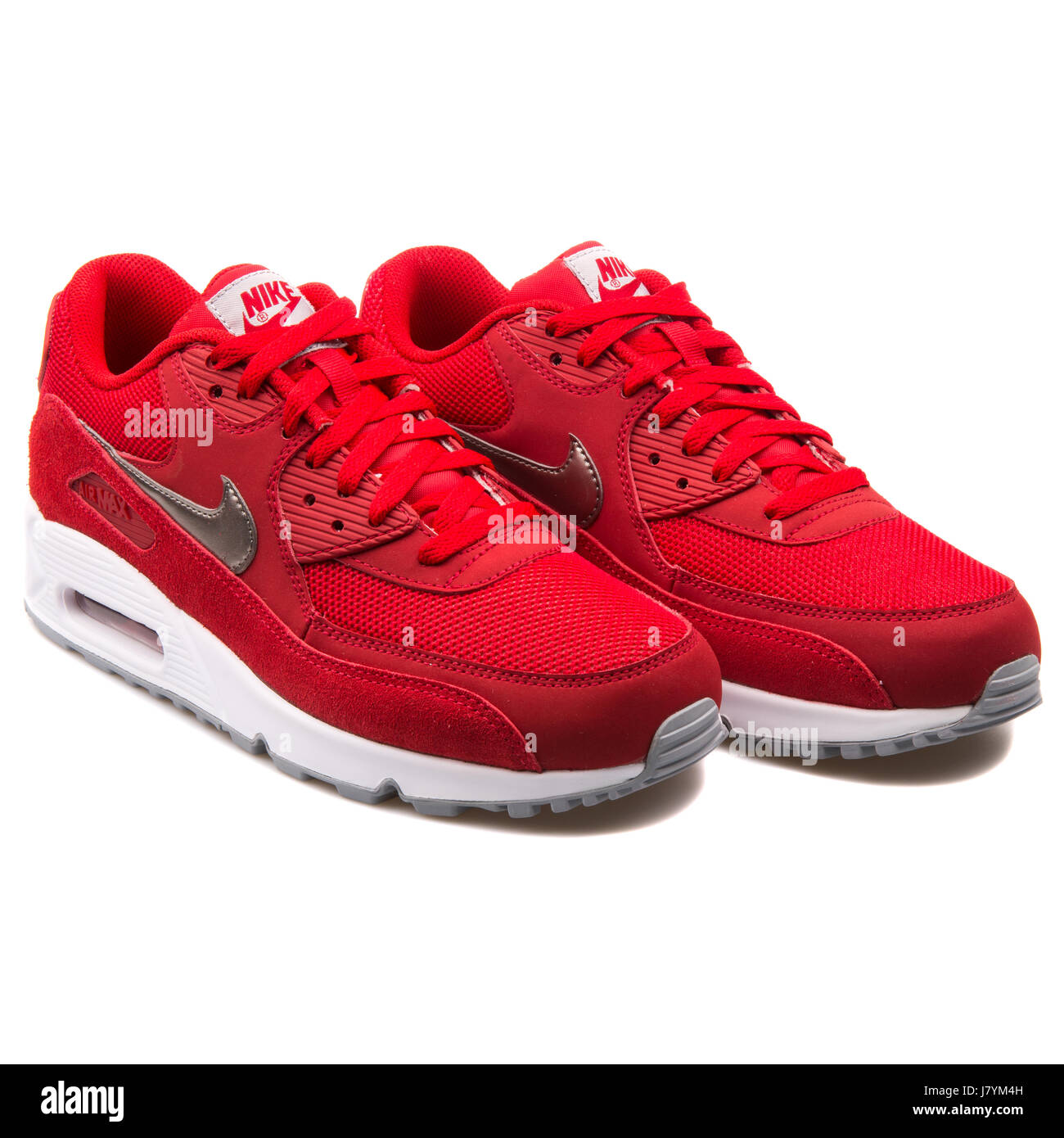 pick up f0f06 e1963 Nike Air Max 90 Essential Red Men s Running Sneakers - 537384-602