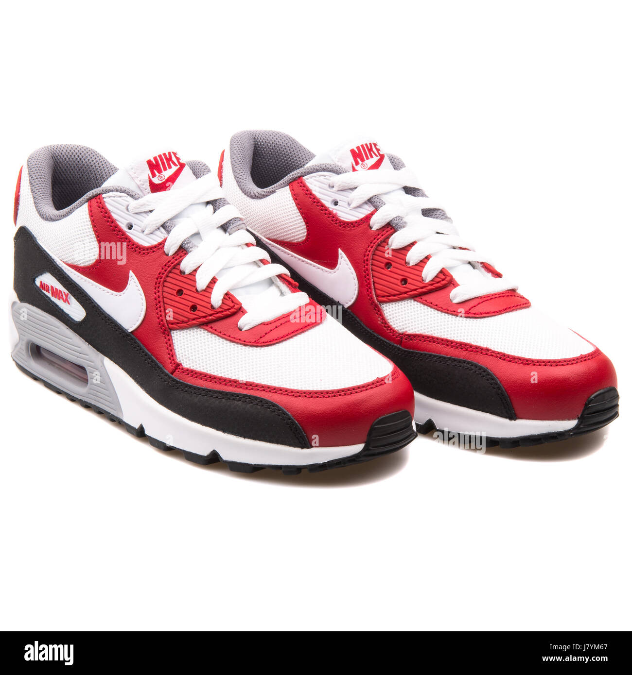 38f889068de6c Nike Air Max 90 Mesh (GS) Red White and Black Youth Sports Sneakers -  724824-102