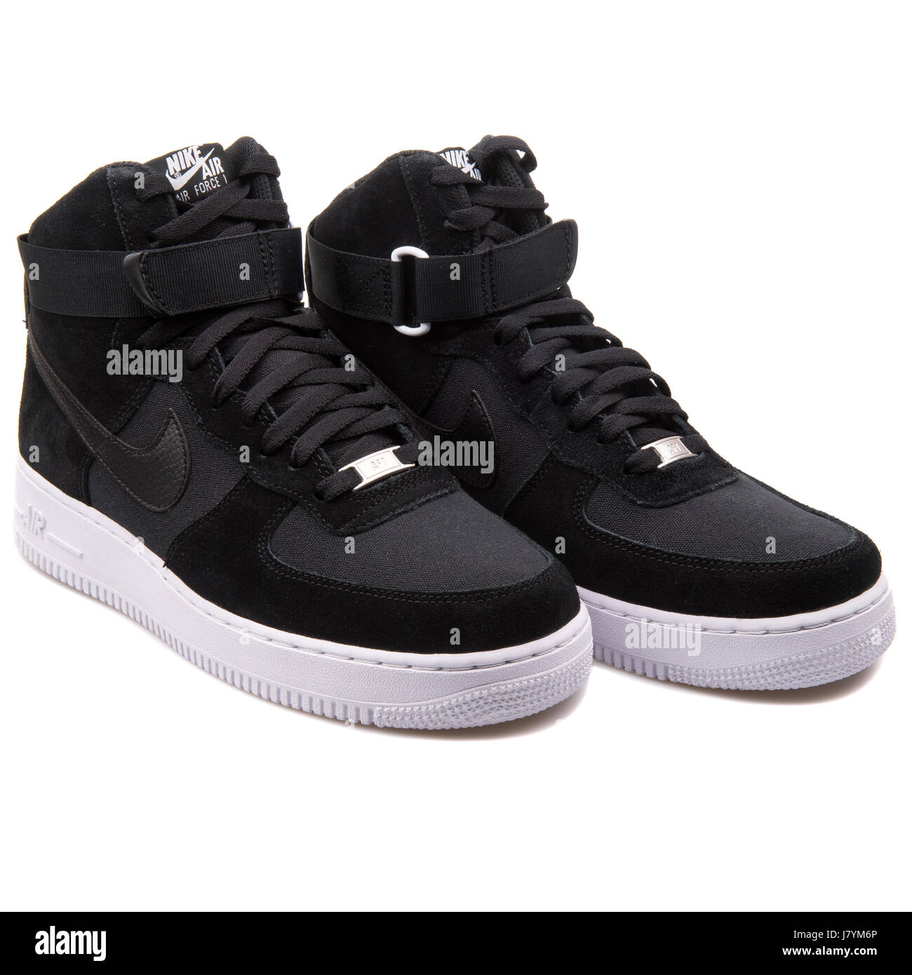 5df480ec Nike Air Force 1 High '07 Black Men Leather Sneakers - 315121-033 ...