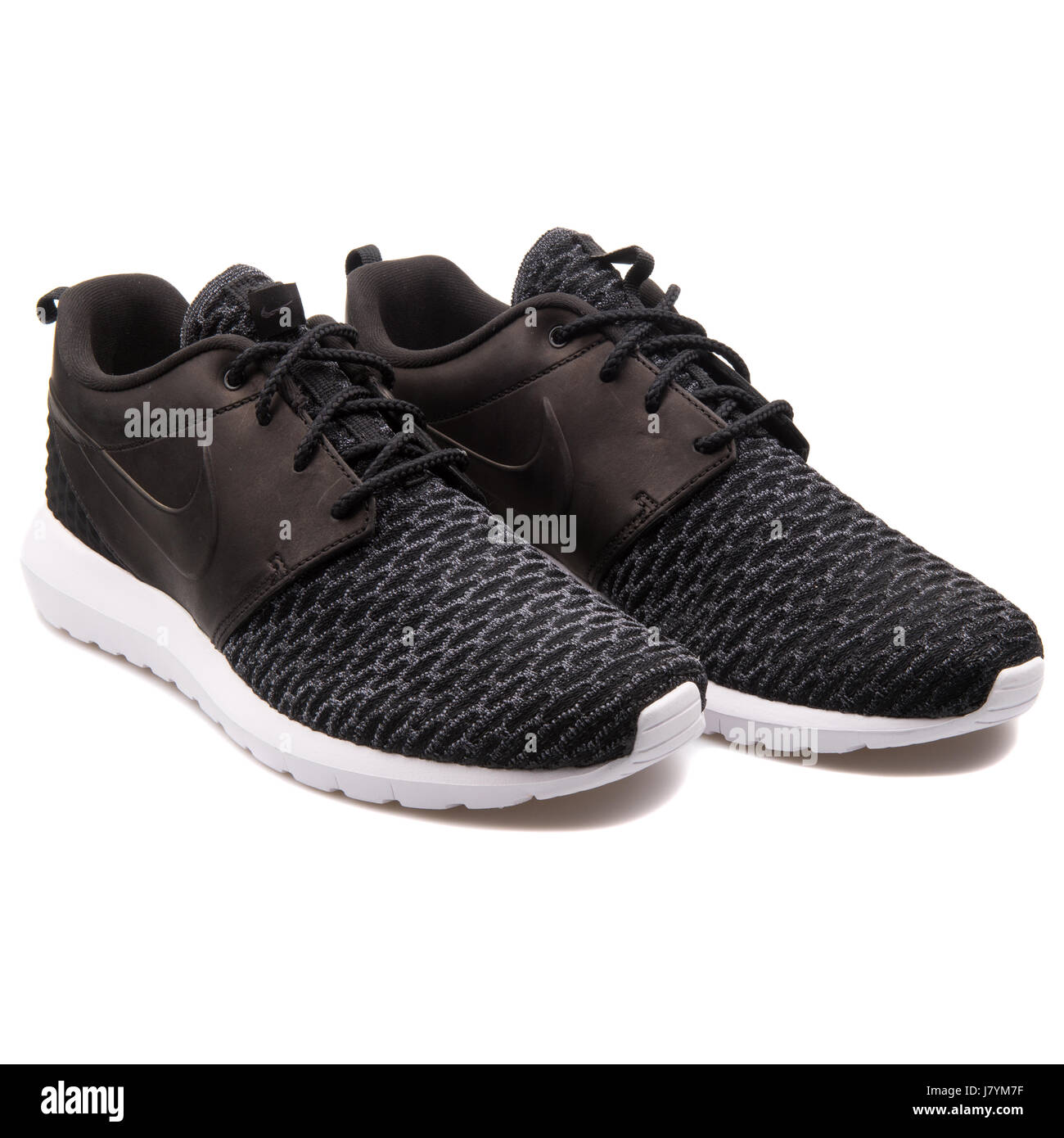 low priced 81430 dedcc Nike Roshe NM Flyknit PRM Black Unisex Sports Sneakers - 746825-001