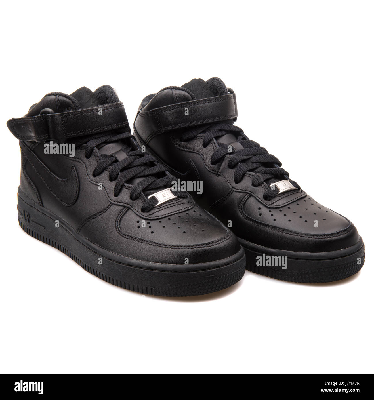 Nike WMNS Air Force 1 Mid  07 LE Black Women s Sports Sneakers - 366731-001 b1c5900d9