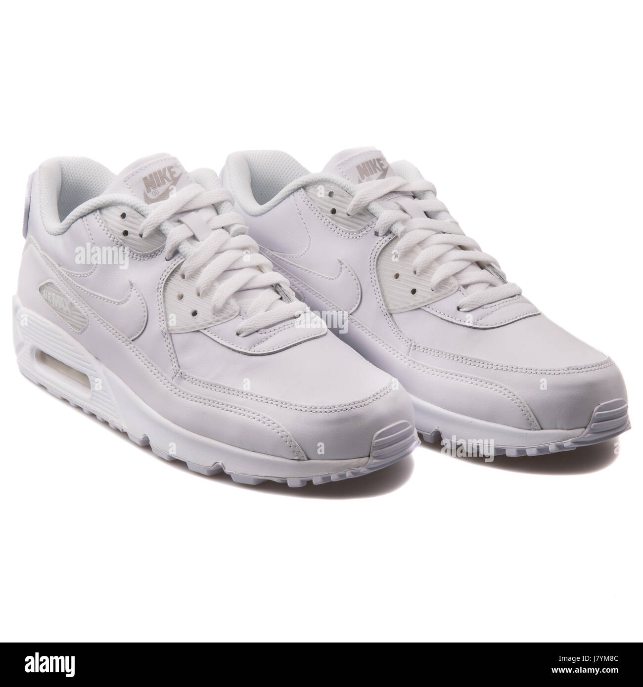 6b62f8f7c3 Nike Air Max 90 Leather White Men's Leather Sports Sneakers - 302519-113