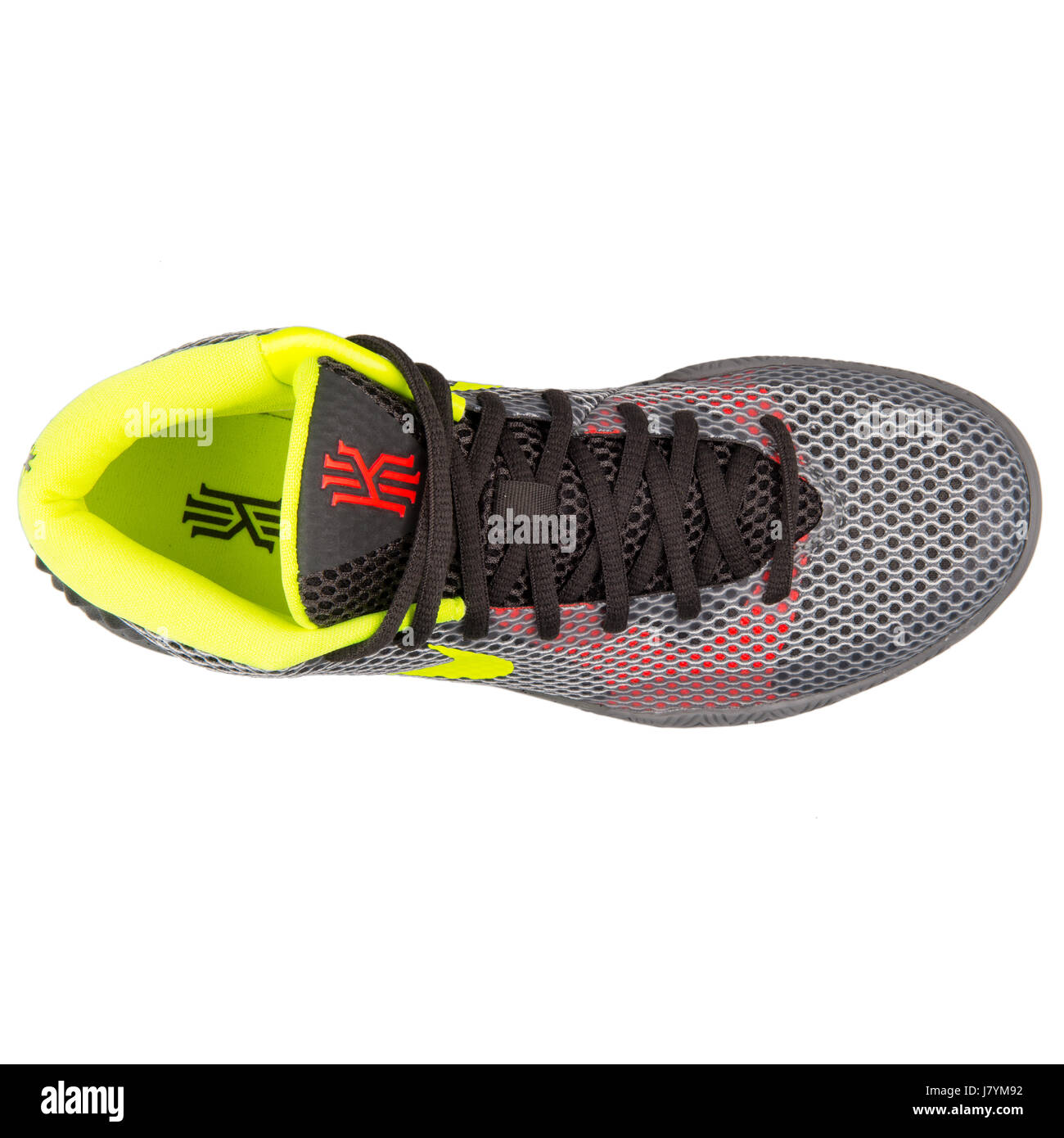 cd1a735666c Nike Kyrie 1 Men s Grey Basketball Sneakers - 705277-270 Stock Photo ...