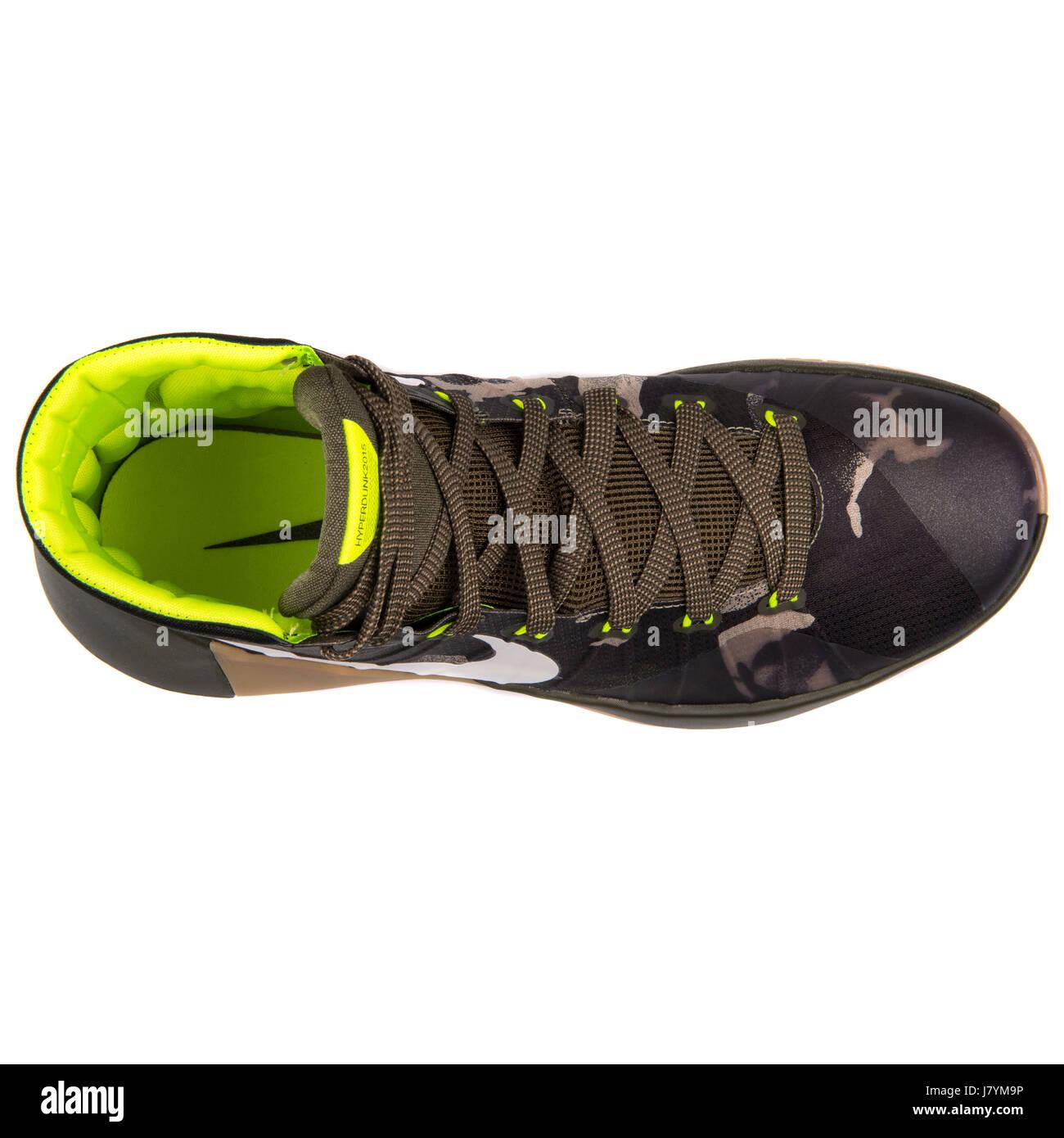 finest selection 013a7 3f20f Nike Hyperdunk 2015 PRM Men Dark Camo Khaki Basketball Sneakers - 749567-313  - Stock