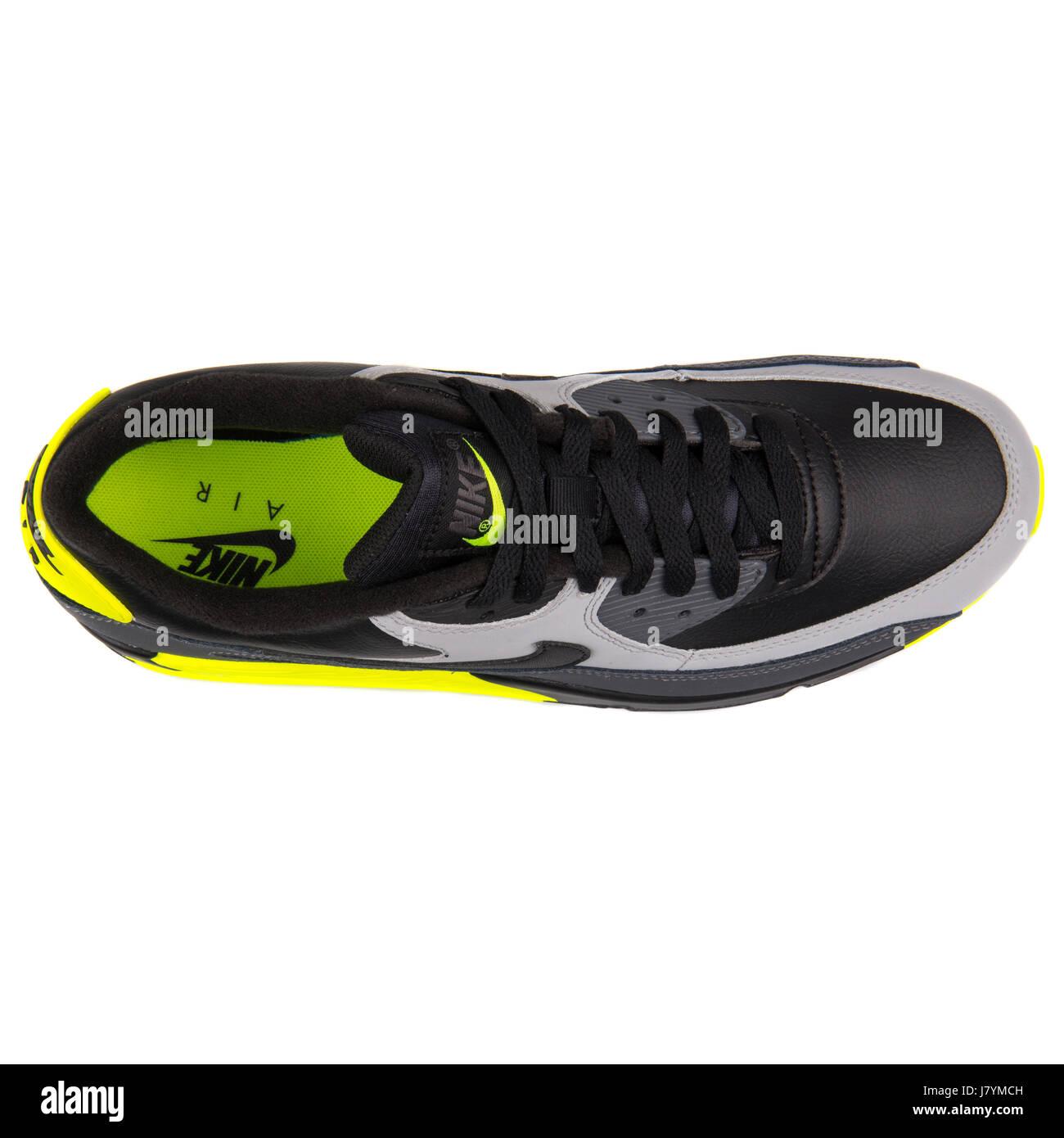 4960e6ba Nike Air Max 90 LTR Black Grey and Yellow Men Sports Sneakers - 652980-007