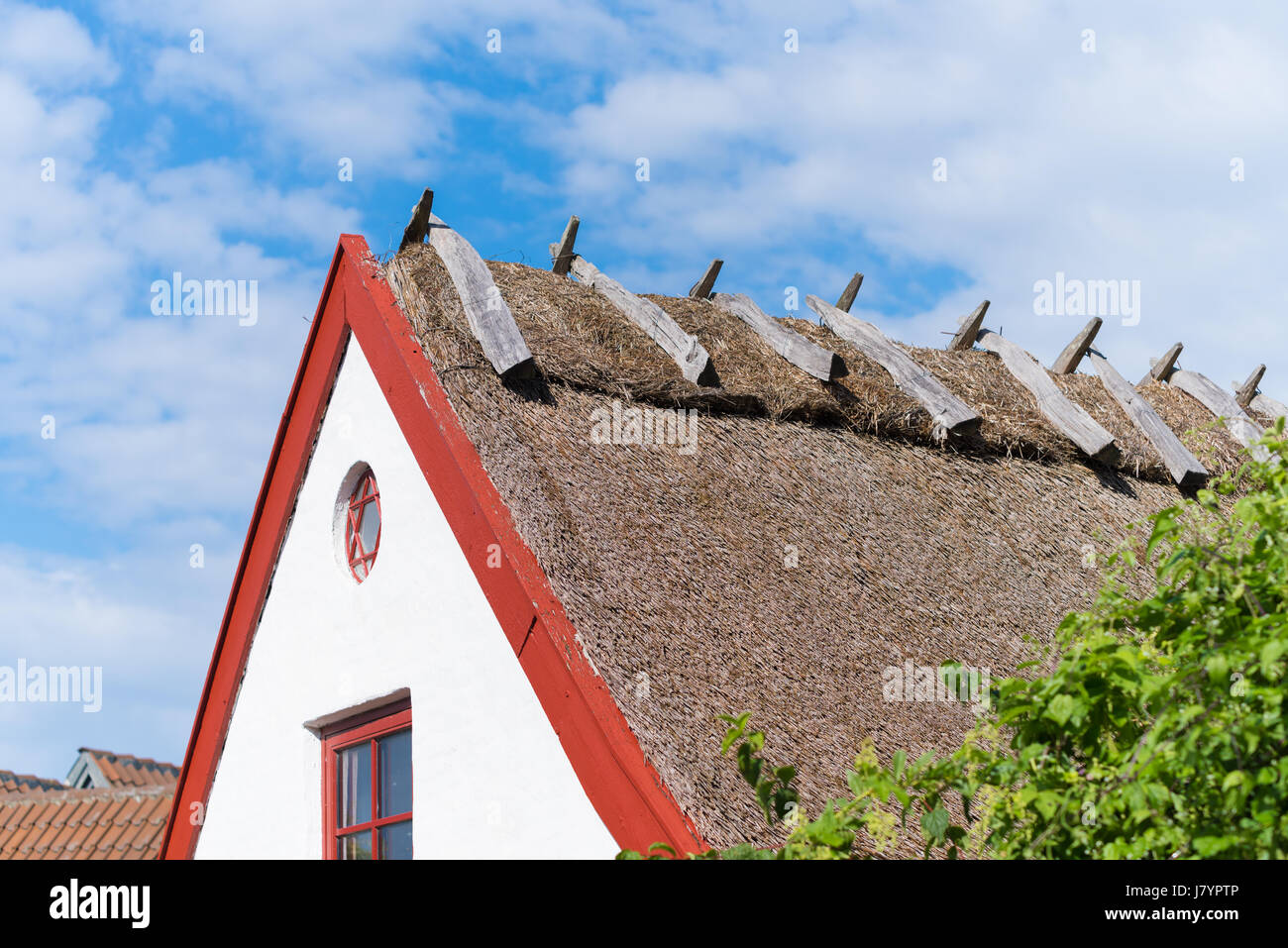 typical houses in the old fishermen's village of Kikhavn, in the northern part of Sealand - Stock Image