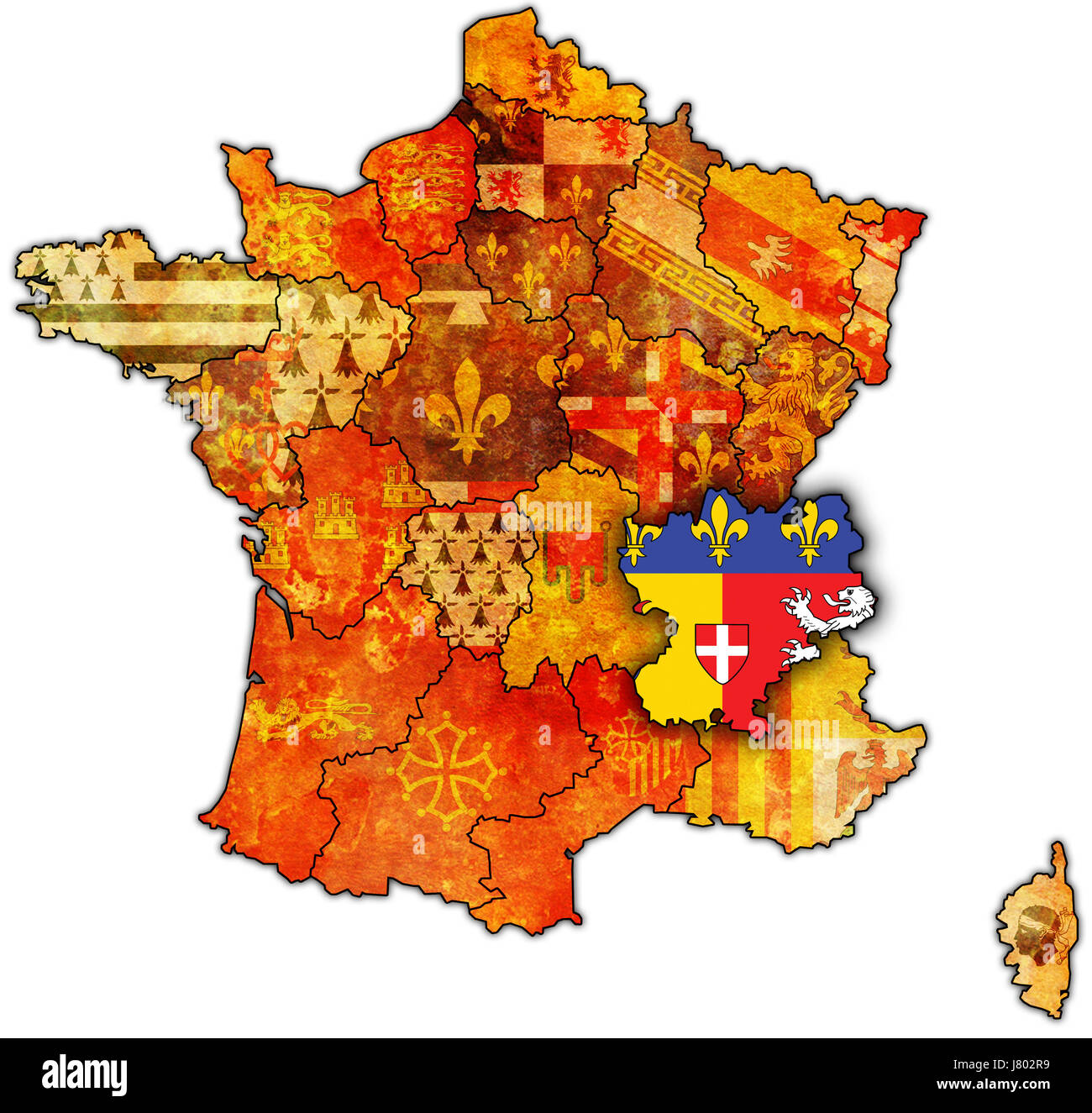 France flag region map atlas map of the world political colour france flag region map atlas map of the world political colour europe wall gumiabroncs Gallery