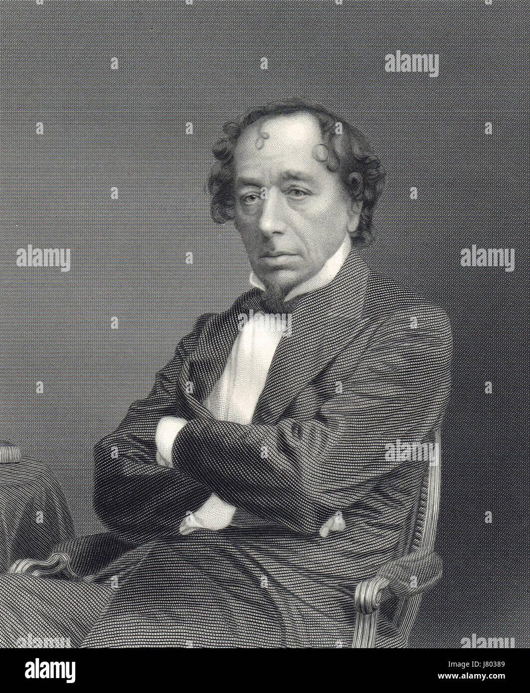 Benjamin Disraeli British Prime Minister Stock Photo