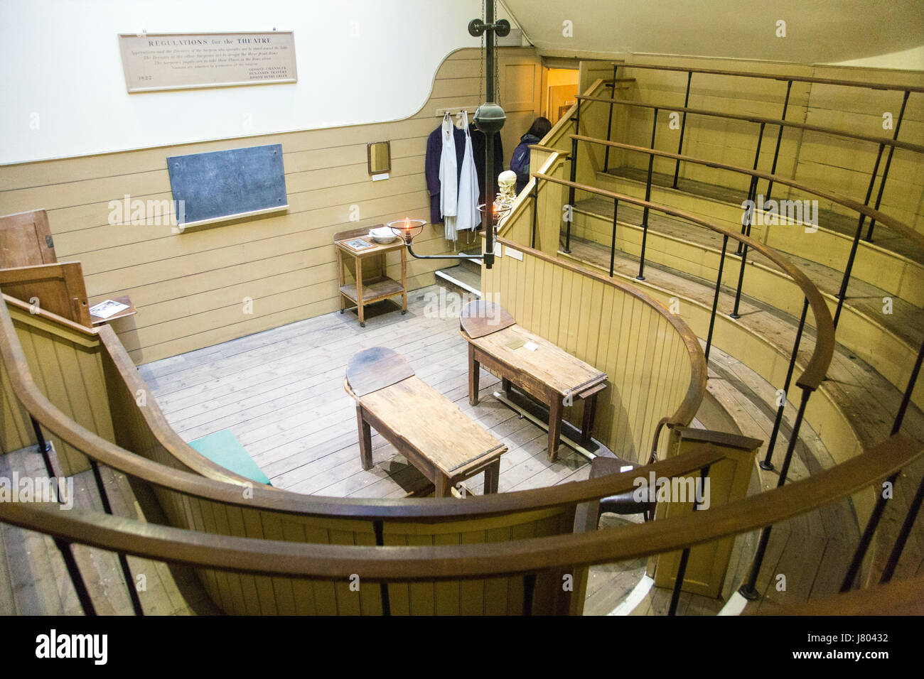 One of the oldest surviving operating theatres at the Old Operating Theatre Museum and Herb Garret, London, UK - Stock Image