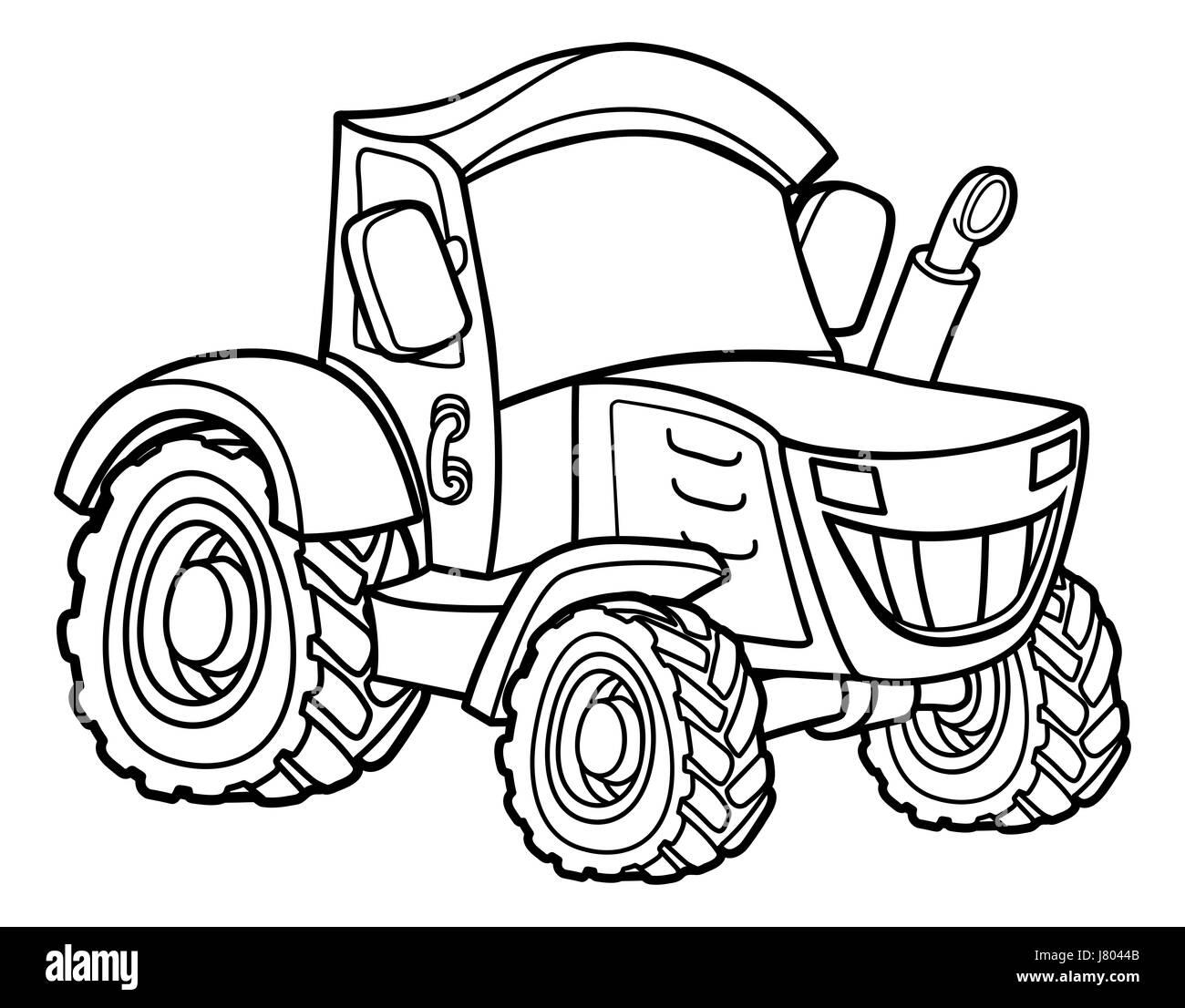 Tractor Cartoon Farm Vehicle Illustration Stock Photo 142603451 Alamy