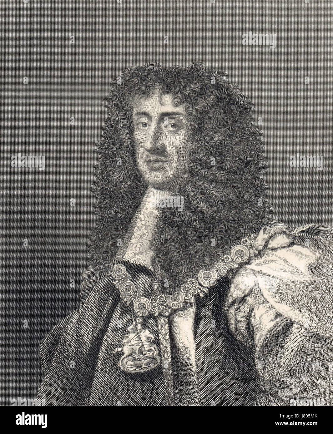 Charles II King of England, king of England, Scotland and Ireland 1660-1685 - Stock Image