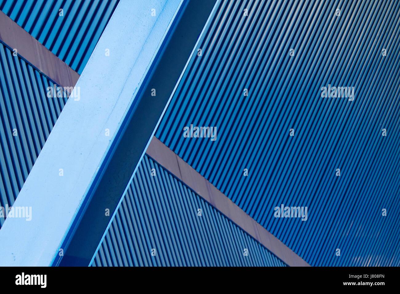 blue build closeup modern modernity industry industrial beam blank european Stock Photo