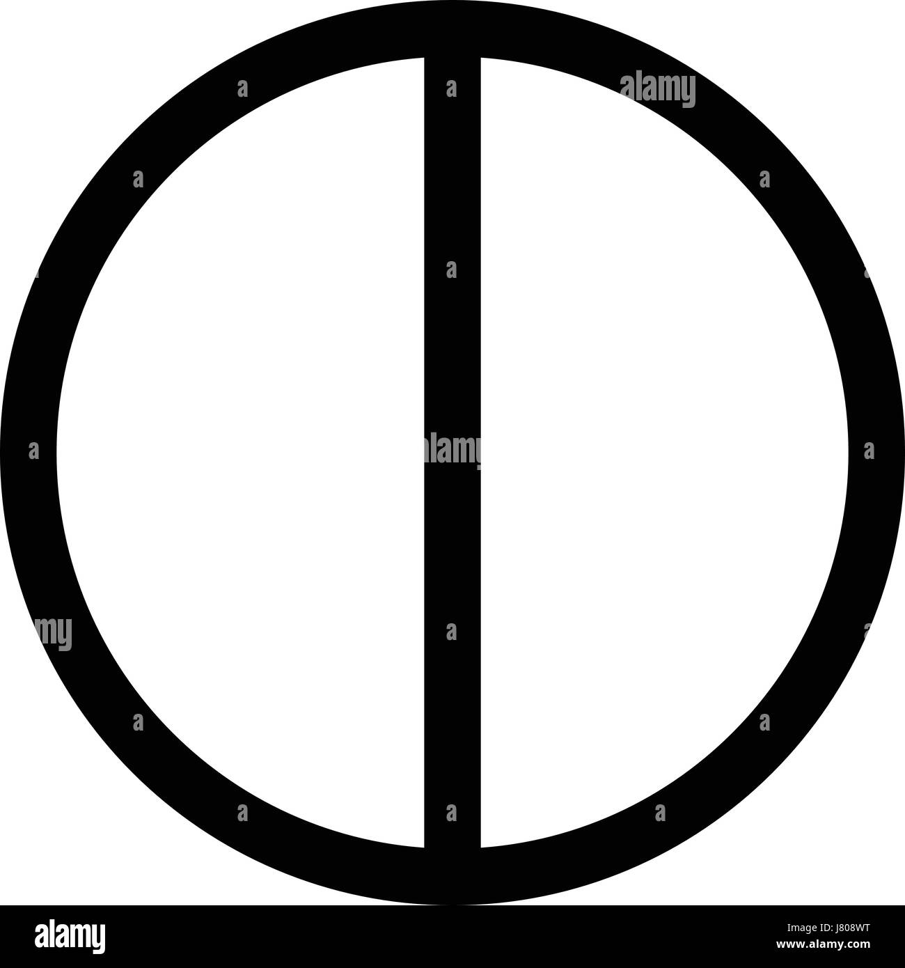 Pie Chart Half Stock Vector Art Illustration Vector Image