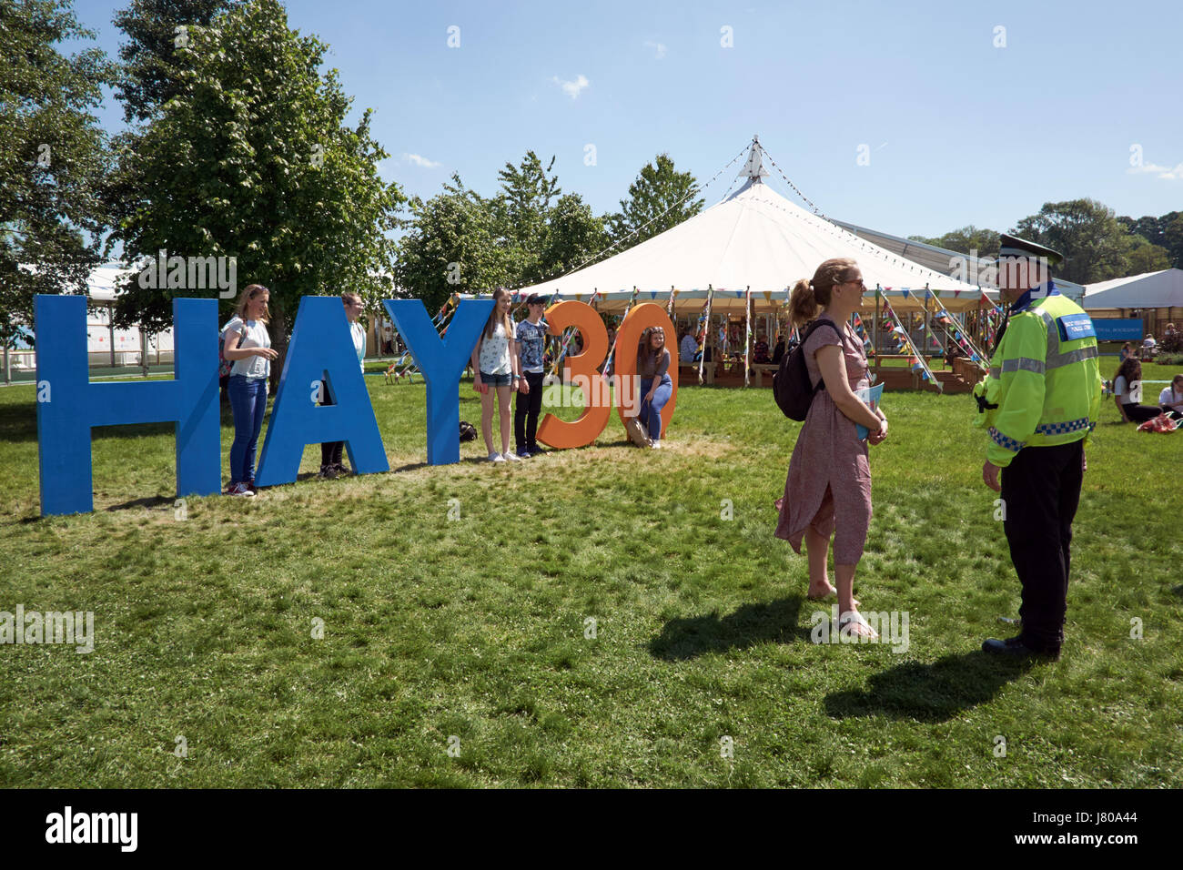 the Hay festival, 30 years now in 2017 - Stock Image