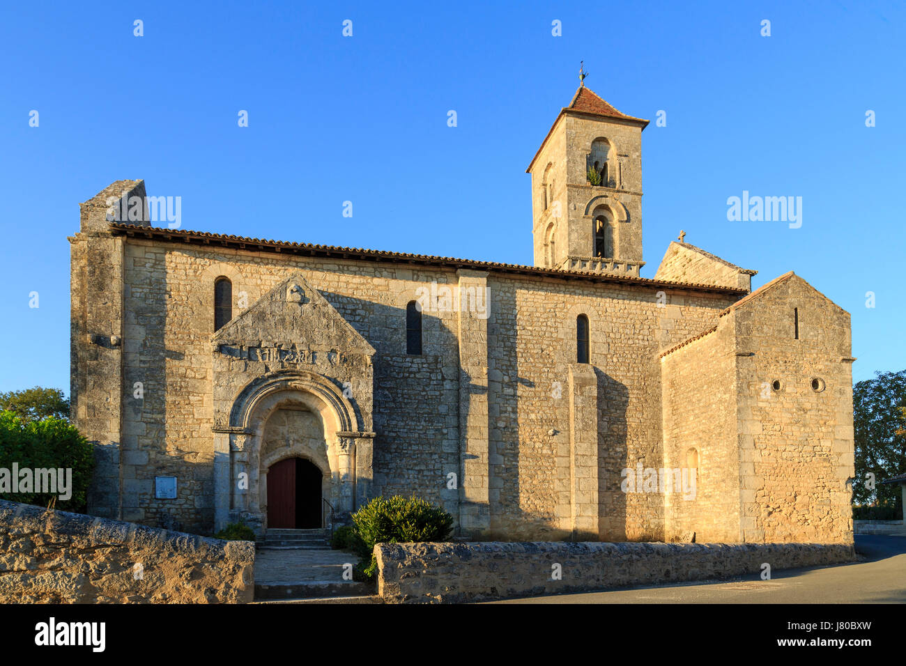 France, Gironde, Montagne, hamlet de Saint Georges de Montagne, Church - Stock Image