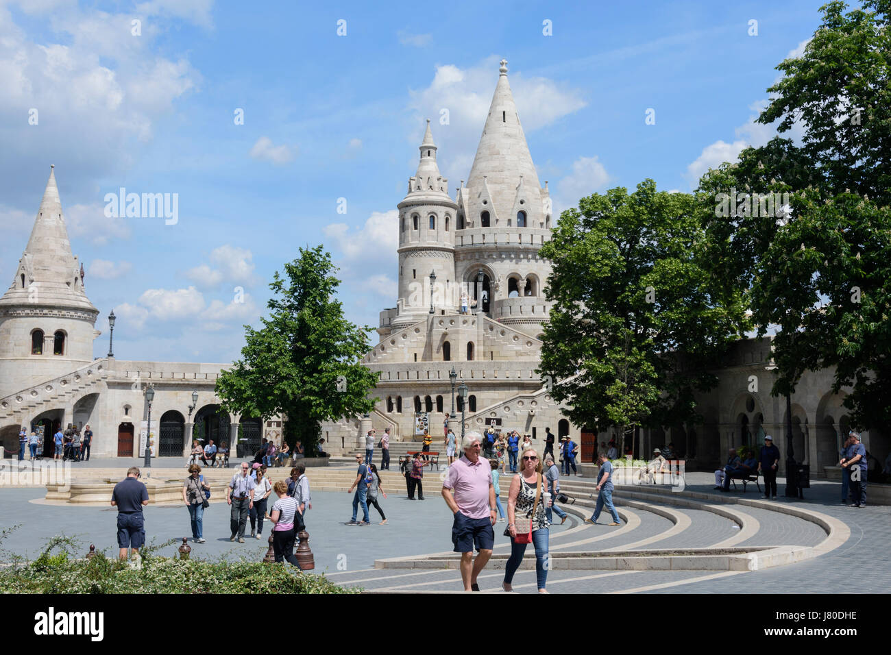 The Fisherman's Bastion in Budapest, Hungary. - Stock Image