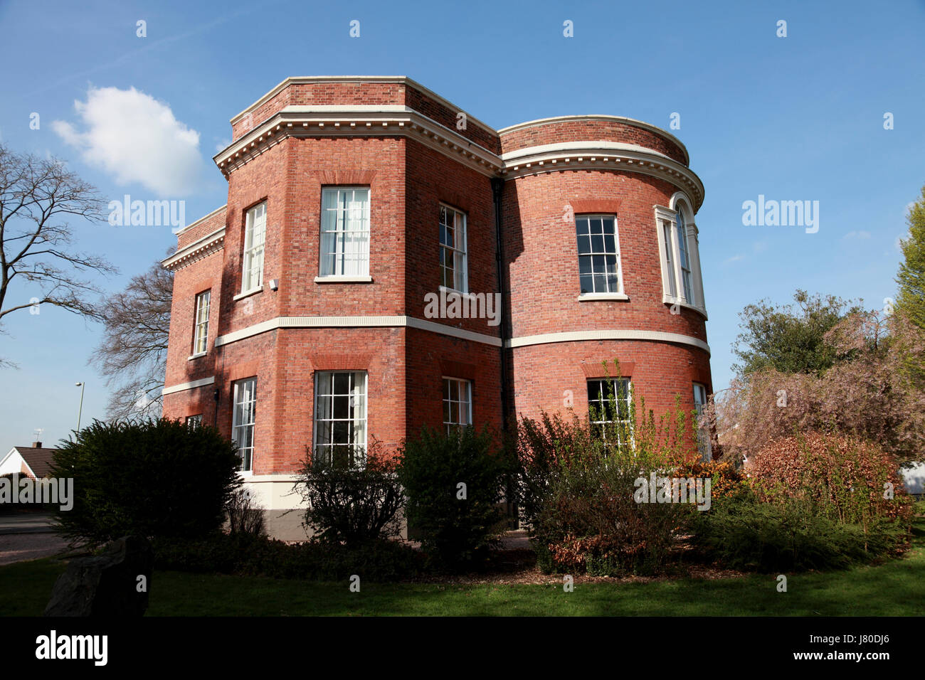 The Grove, a Grade II listed building, built about 1770, now Grove (sixth form) College, in Market Drayton, Shropshire - Stock Image