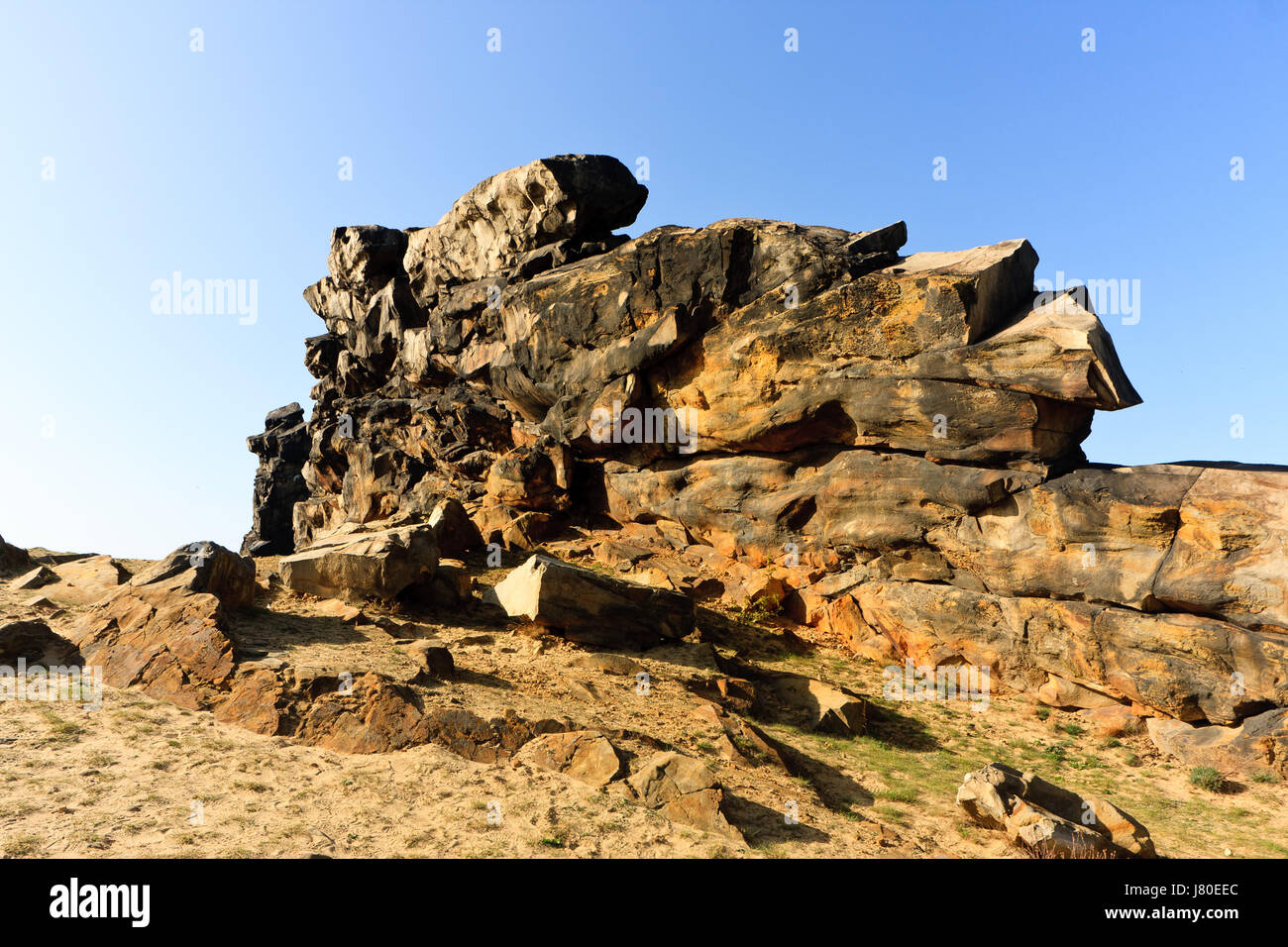 formation rock resin myth saw stone formation rock sightseeing nature-sanctuary - Stock Image