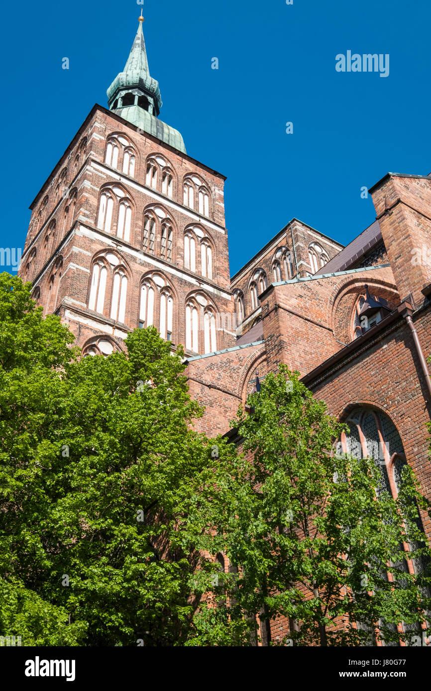 Nikolaikirche, Stralsund, Mecklenburg-Vorpommern, Germany - Stock Image