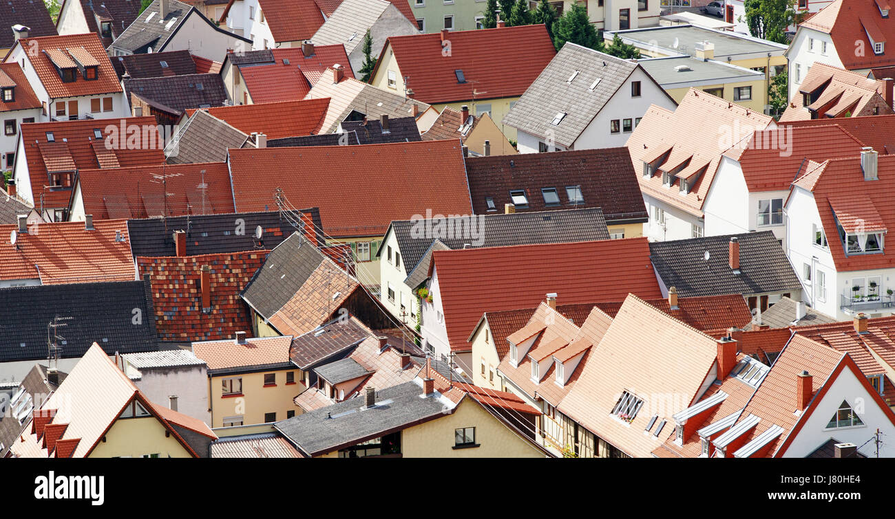 house building aerial perspective build historical protection of historic - Stock Image