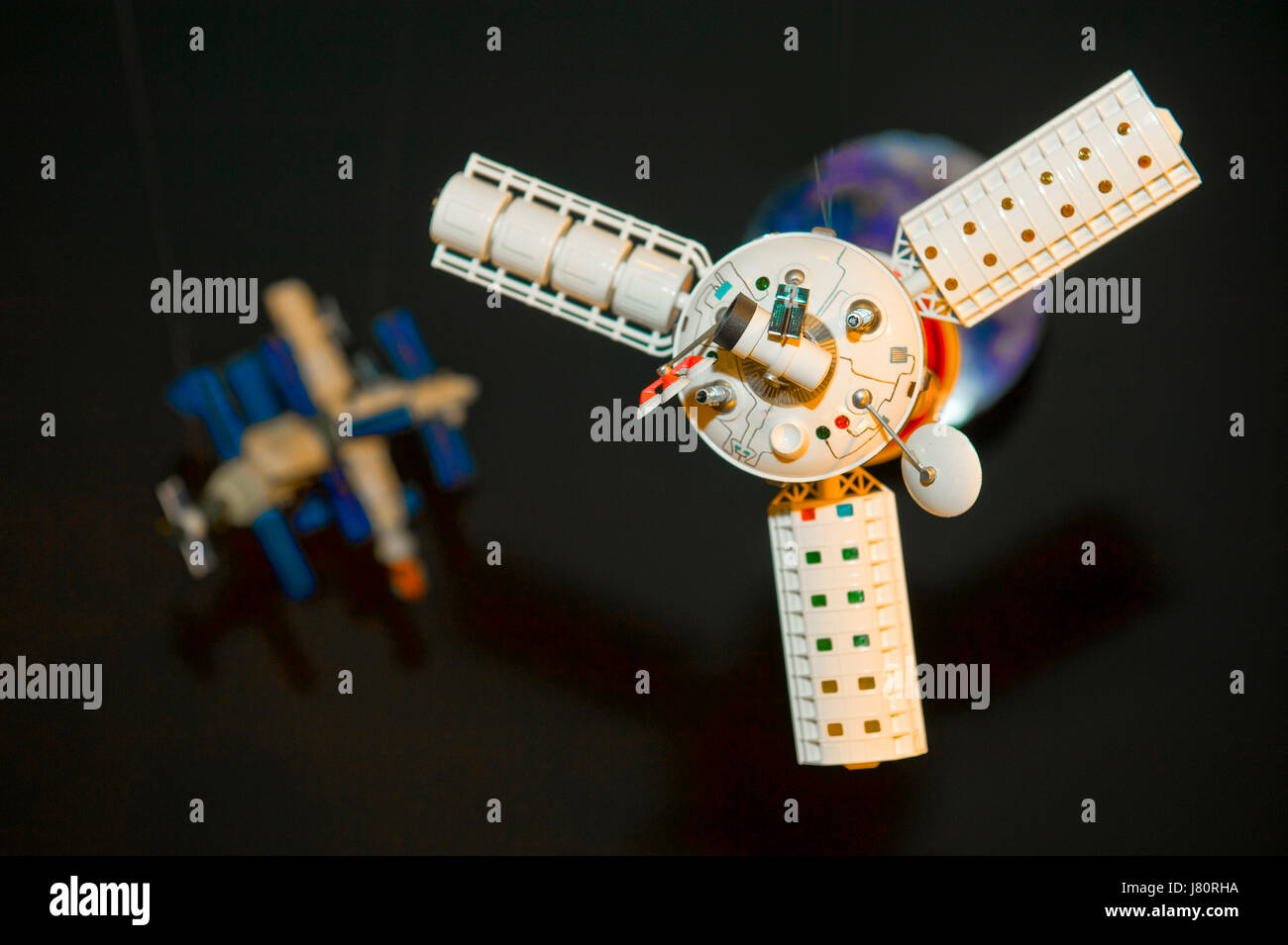 sign signal space satellite television tv televisions satelite wave firmament - Stock Image