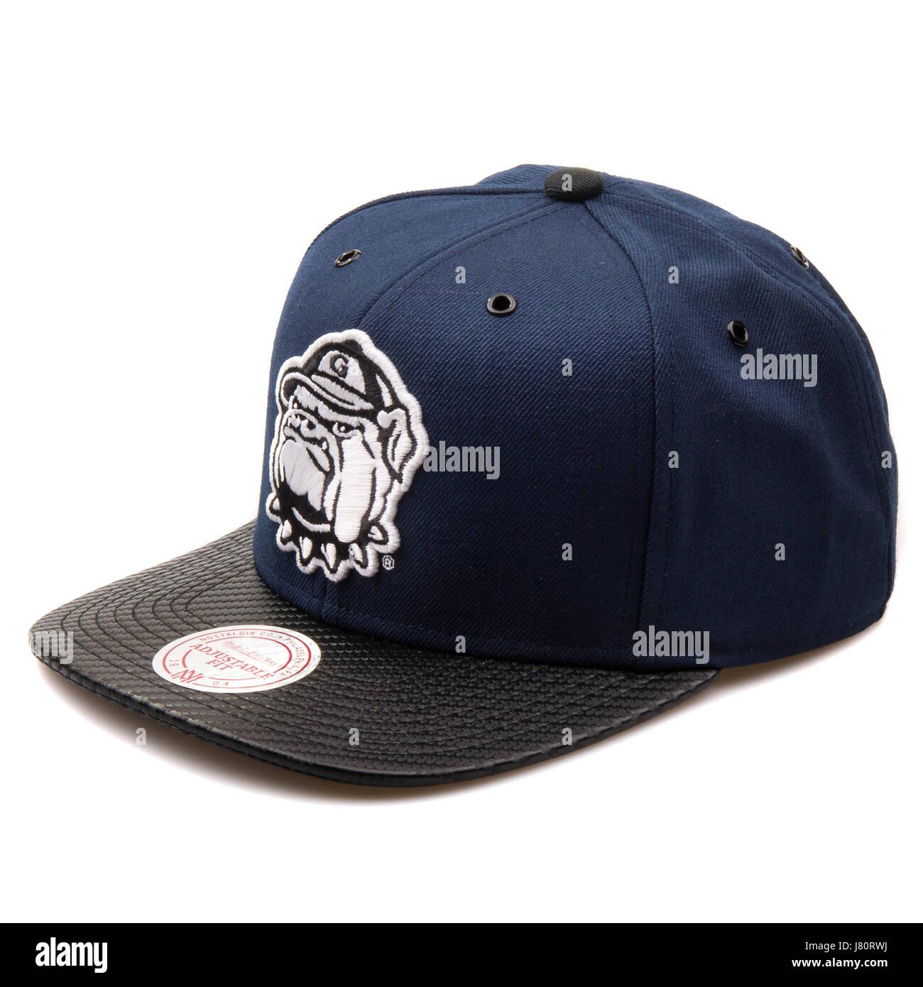promo code 5c145 cd943 Mitchell   Ness Dark Blue and Black Georgetown Hoyas Cap