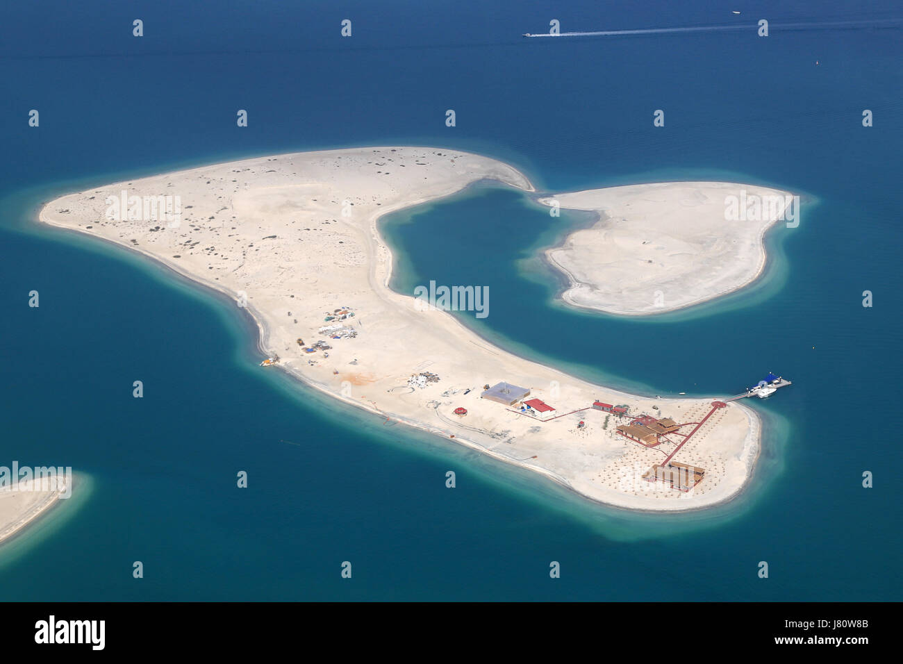 Dubai The World Clarence Island aerial view photography UAE - Stock Image