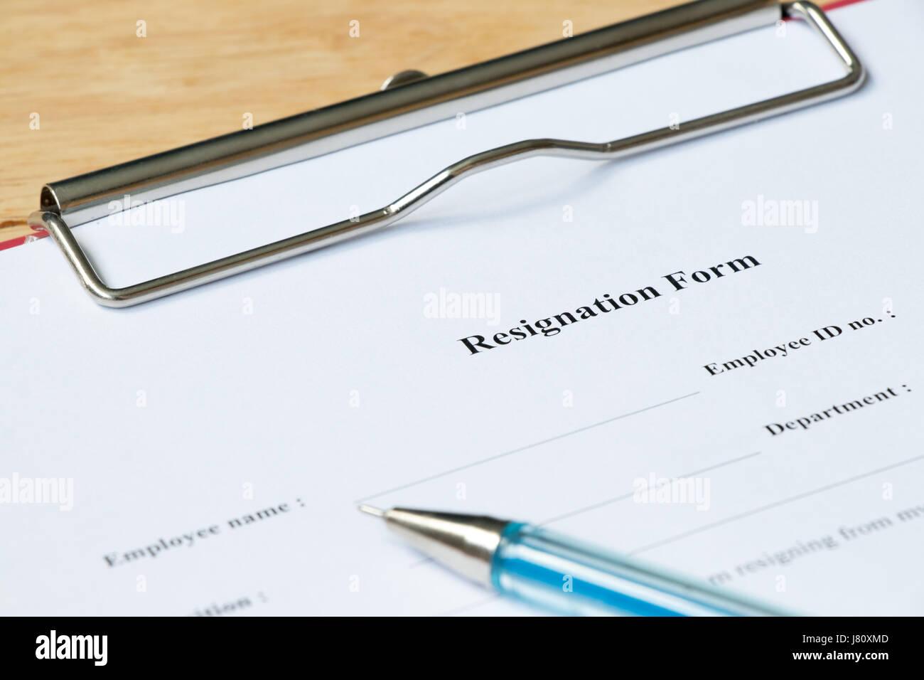 Resignation form on wood desk background stock photo 142621149 alamy resignation form on wood desk background altavistaventures Images