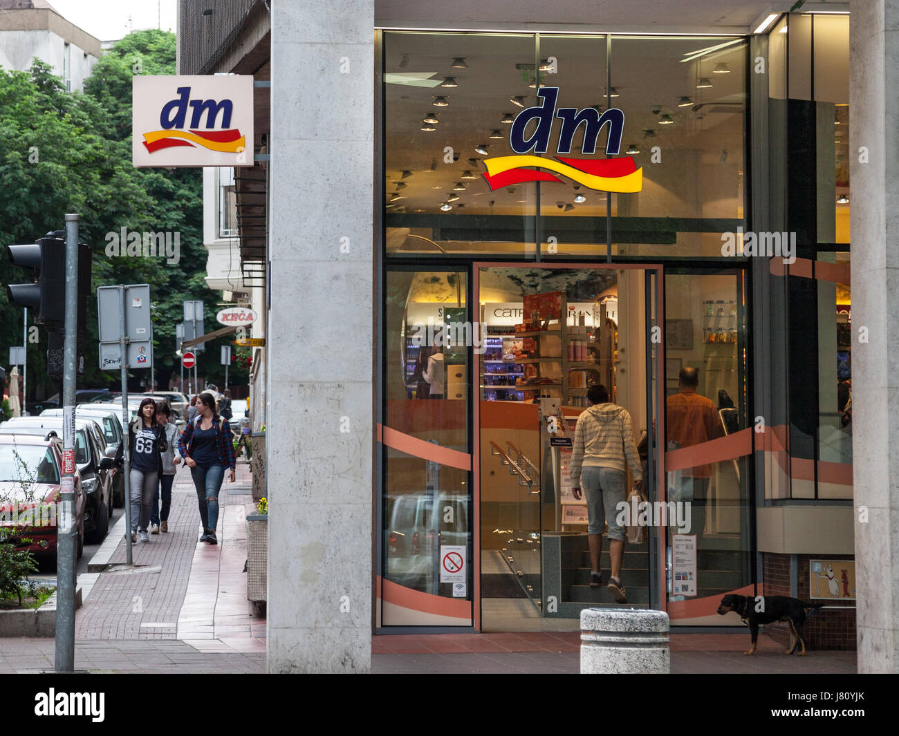 BELGRADE, SERBIA - MAY 25, 2017: DM shop in the center of Belgrade, Serbian capital city. DM-drogerie markt is a - Stock Image