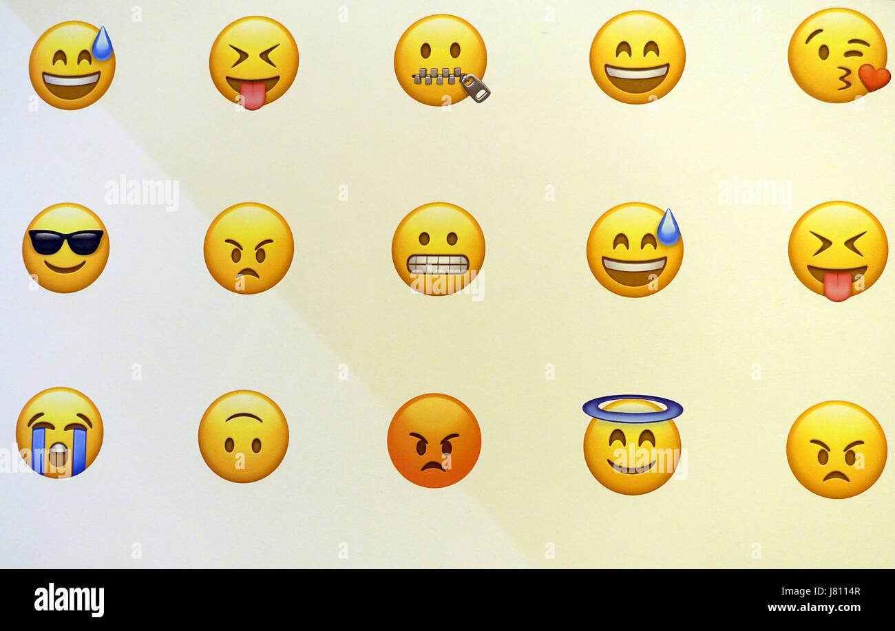 Emoji Messaging Symbols London Stock Photo 142623063 Alamy