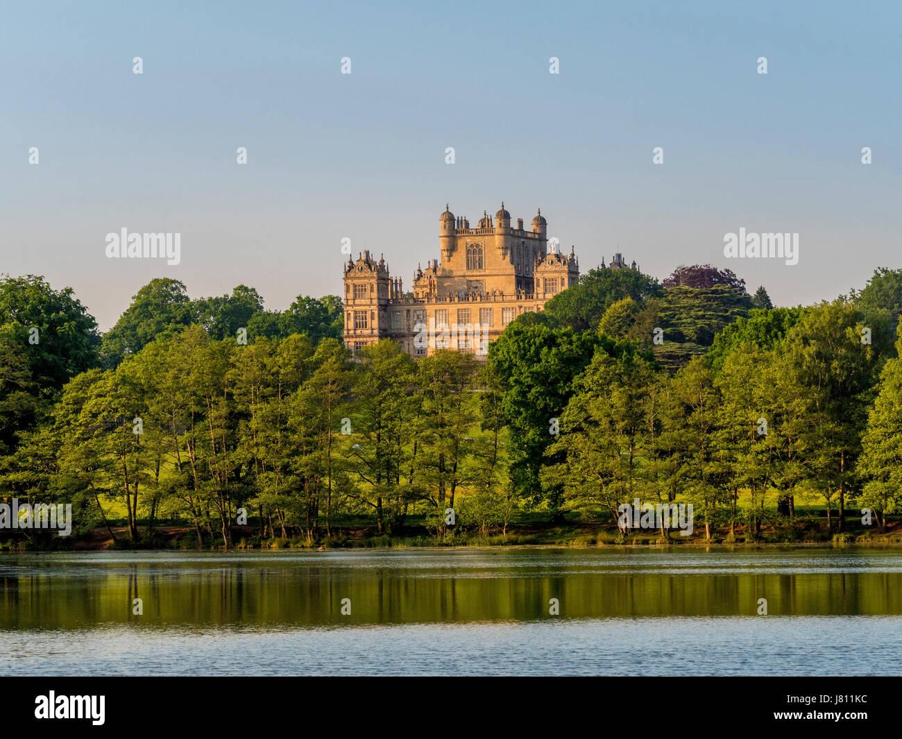 Lake and Wollaton Hall, Wollaton Park, Nottingham, UK. - Stock Image