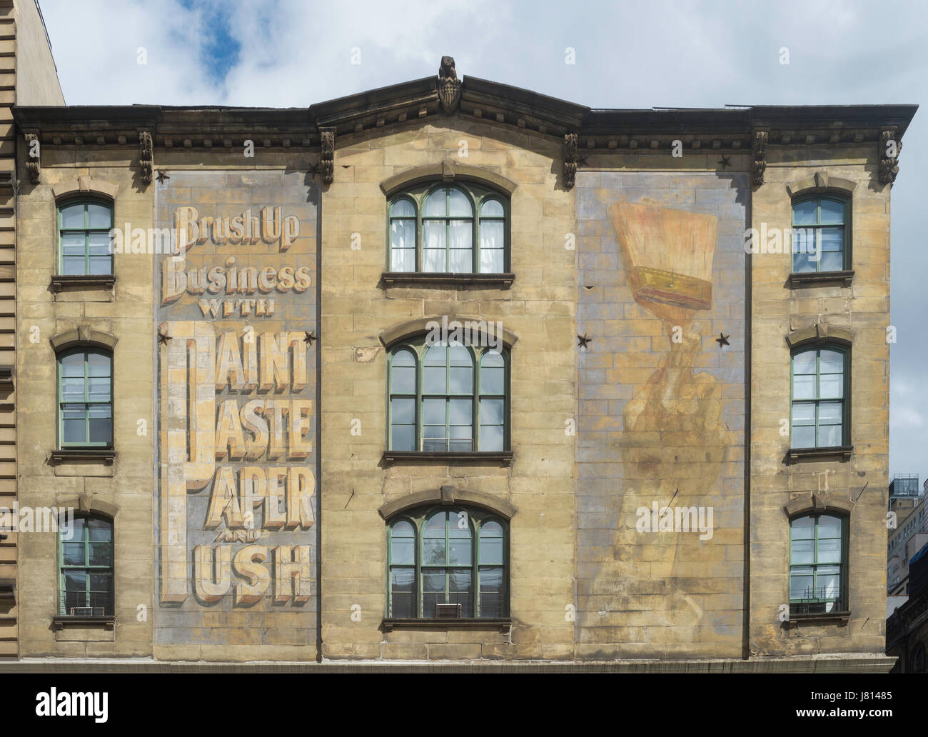 New York, NY 26 May 2017 - Faded advertisement on an old Tribeca building, circa 1860,  on West Broadway ©Stacy - Stock Image